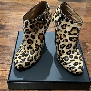 Aldo mohair leopard booties size 6.5
